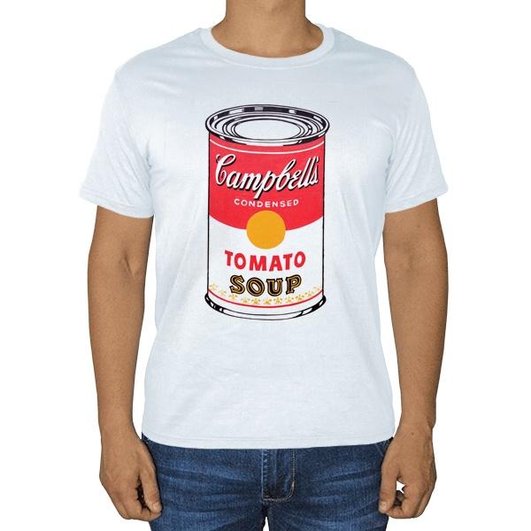 Белая футболка Энди Уорхол Campbell's Soup