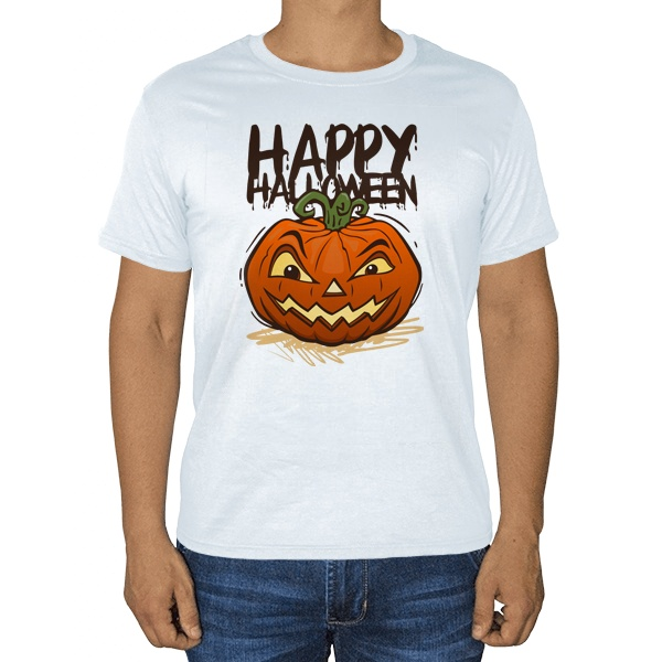Happy Halloween, белая футболка