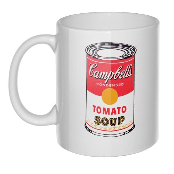Кружка Энди Уорхол Campbell's Soup, цвет белый