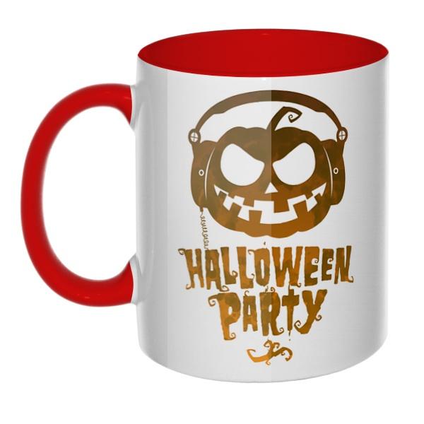 Halloween Party, кружка цветная внутри и ручка