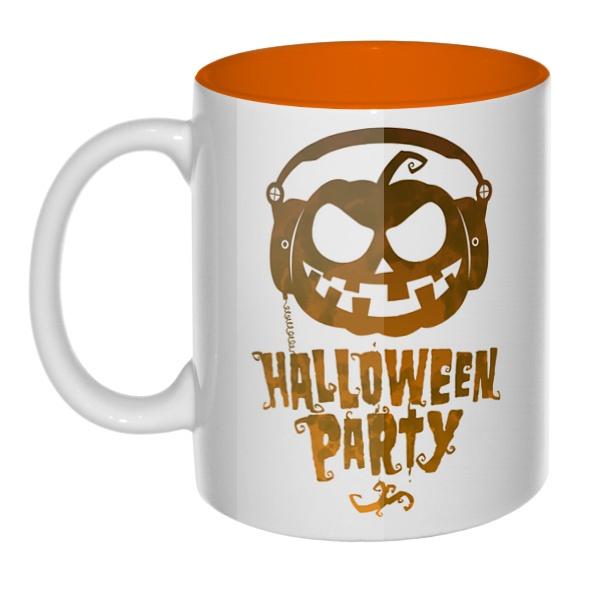 Halloween Party, кружка цветная внутри