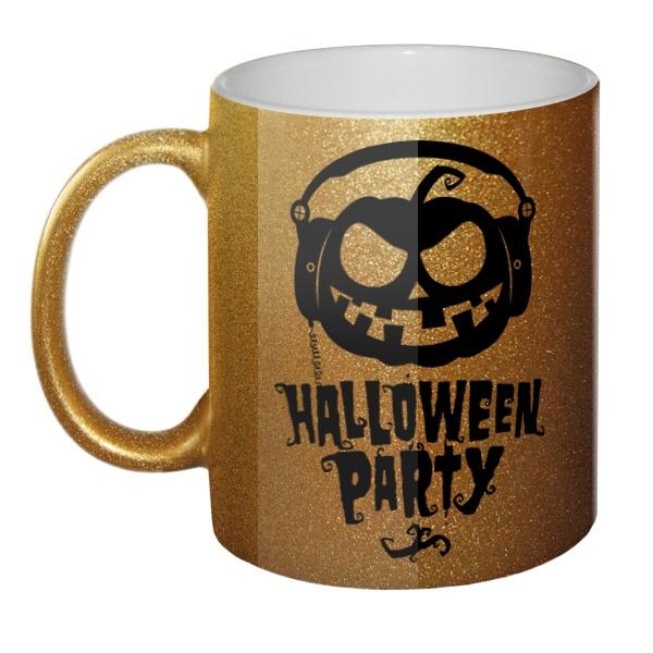 Кружка блестящая Halloween Party