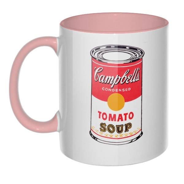 Кружка Энди Уорхол Campbell's Soup цветная внутри и ручка