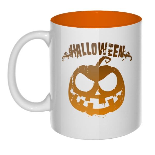 Halloween, кружка цветная внутри