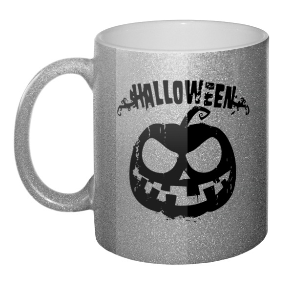 Кружка блестящая Halloween