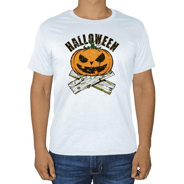 Хэллоуин, белая футболка