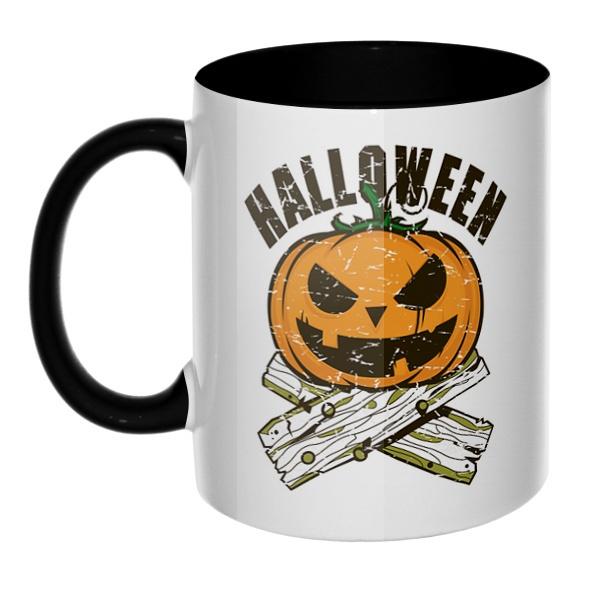 Хэллоуин, кружка цветная внутри и ручка