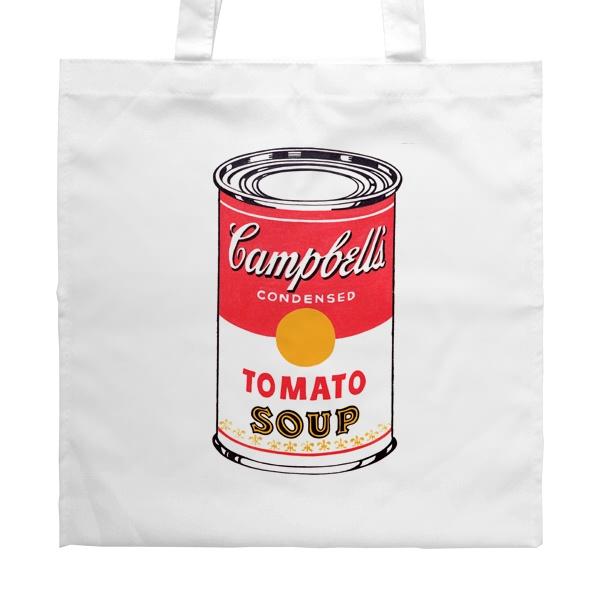 Белая сумка Энди Уорхол Campbell's Soup