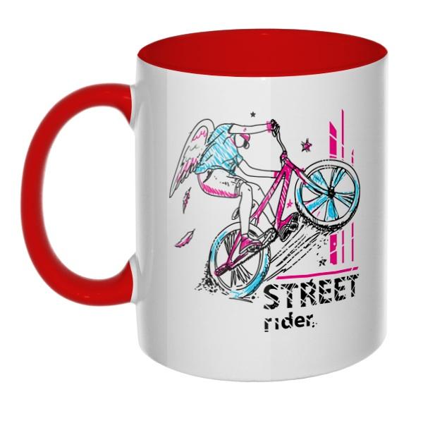 Street Rider, кружка цветная внутри и ручка