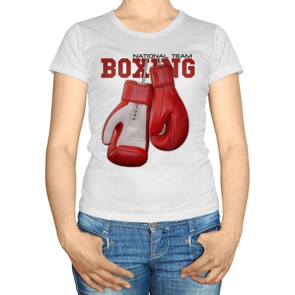 Женская футболка Боксерские перчатки