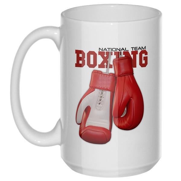 Боксерские перчатки, большая кружка с круглой ручкой