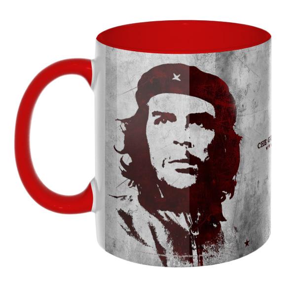 Che Guevara (Эрнесто Че Гевара) — Цветная 3D-кружка, цвет красный