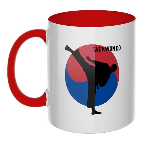 Tae kwon do, кружка цветная внутри и ручка