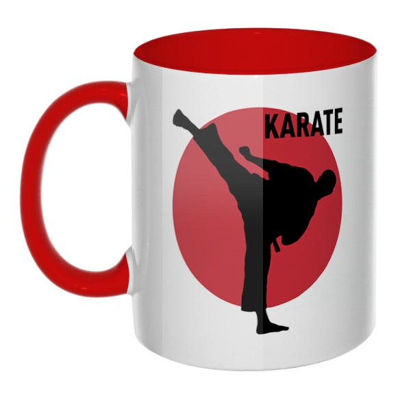 Karate, кружка цветная внутри и ручка