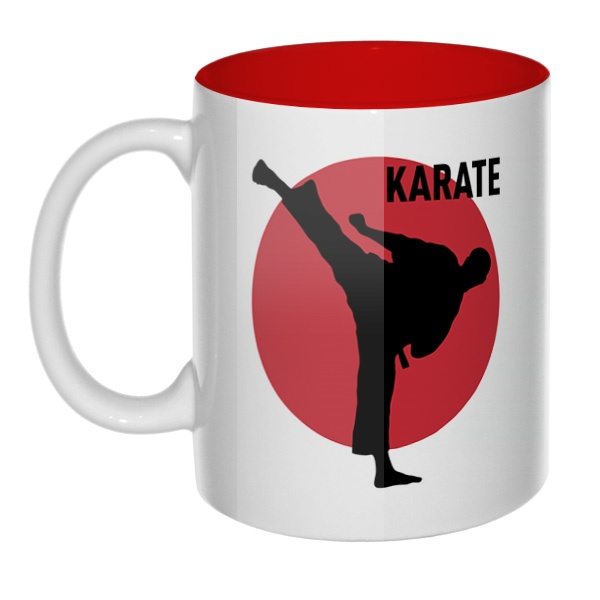 Karate, кружка цветная внутри