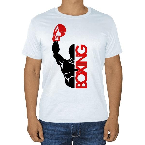 Бокс, белая футболка
