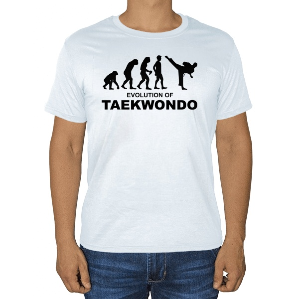 Эволюция тхэквондо, белая футболка
