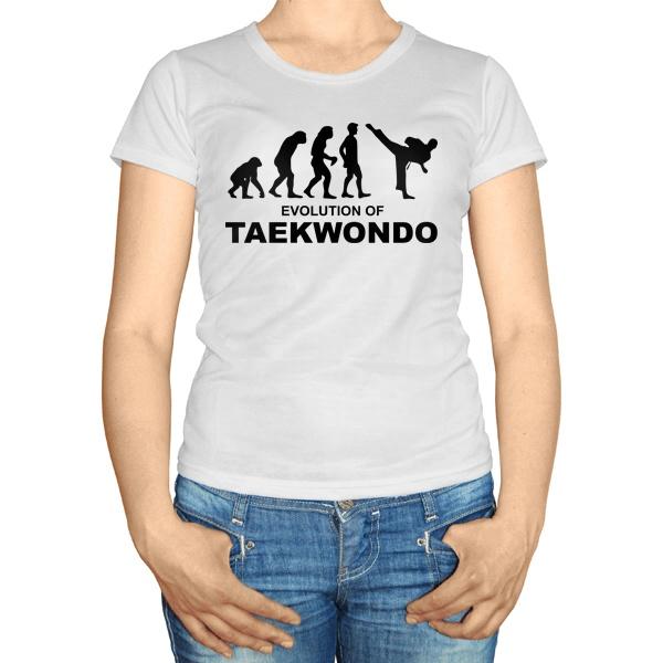 Женская футболка Эволюция тхэквондо