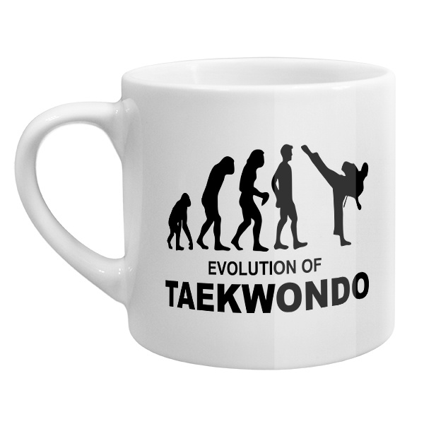 Кофейная чашка Эволюция тхэквондо