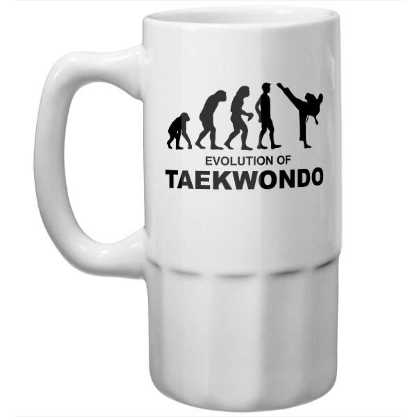 Пивная кружка Эволюция тхэквондо