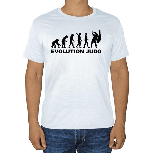 Эволюция Дзюдо, белая футболка