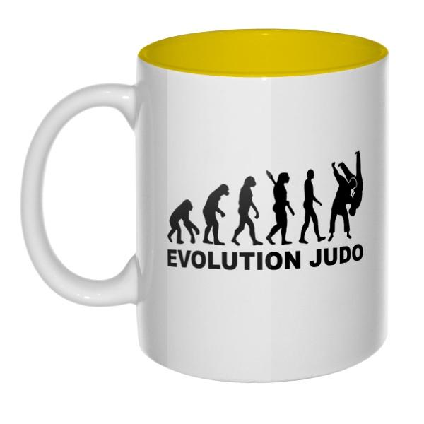 Эволюция Дзюдо, кружка цветная внутри