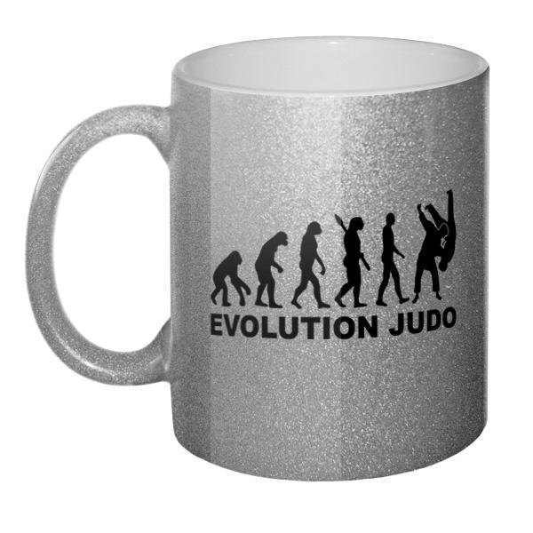 Кружка блестящая Эволюция Дзюдо