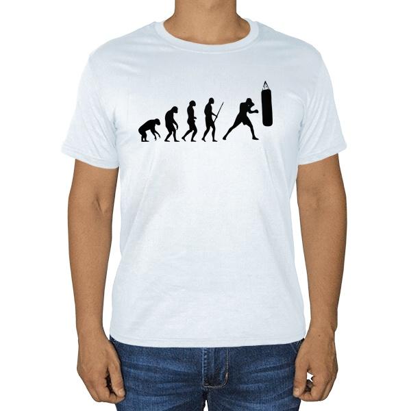 Эволюция бокса, белая футболка