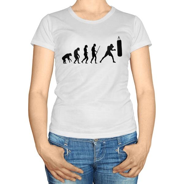 Женская футболка Эволюция бокса