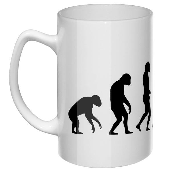 Большая кружка Эволюция бокса