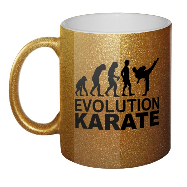 Кружка блестящая Эволюция карате