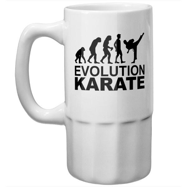 Пивная кружка Эволюция карате