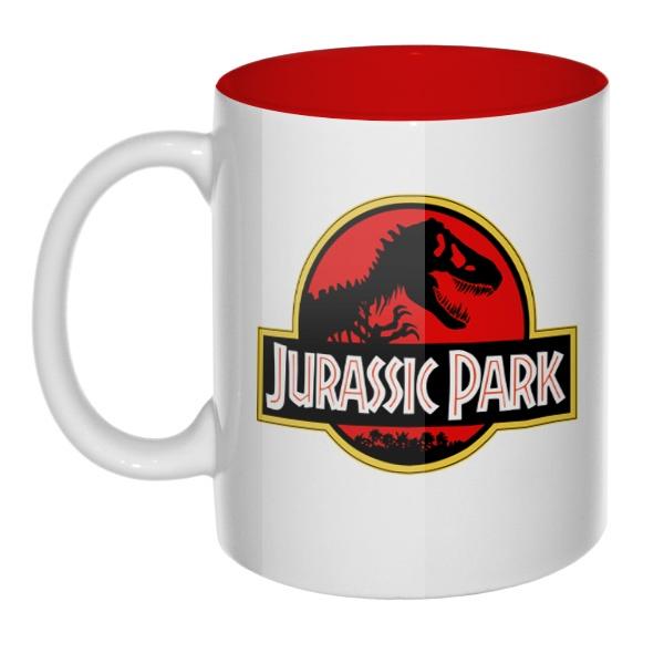 Кружка цветная внутри Jurassic Park