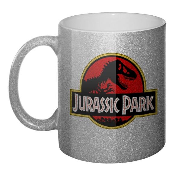 Кружка блестящая Jurassic Park