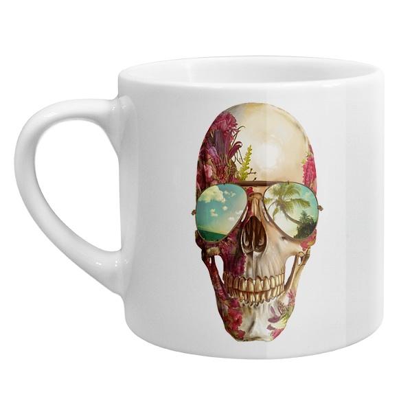 Кофейная чашка Череп в очках