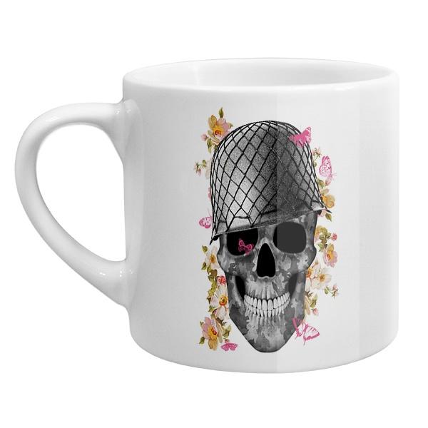 Кофейная чашка Череп в каске