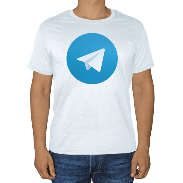 Белая футболка Логотип Telegram