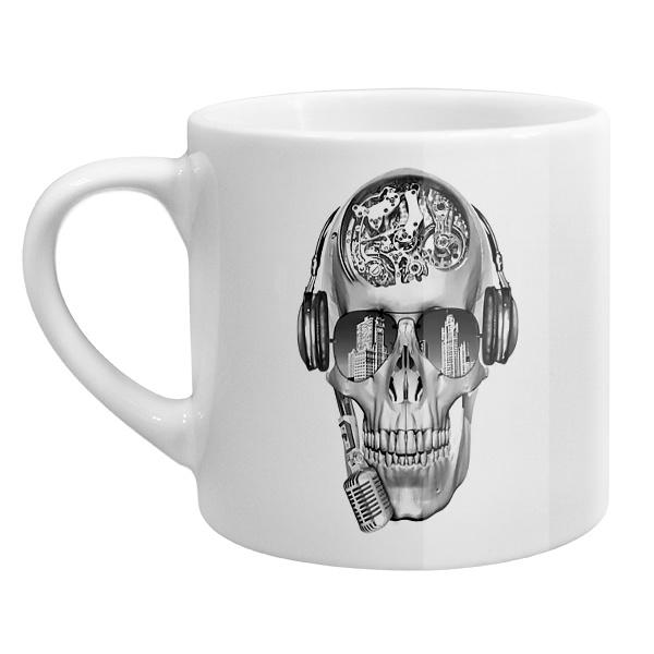 Кофейная чашка Череп с шестеренками