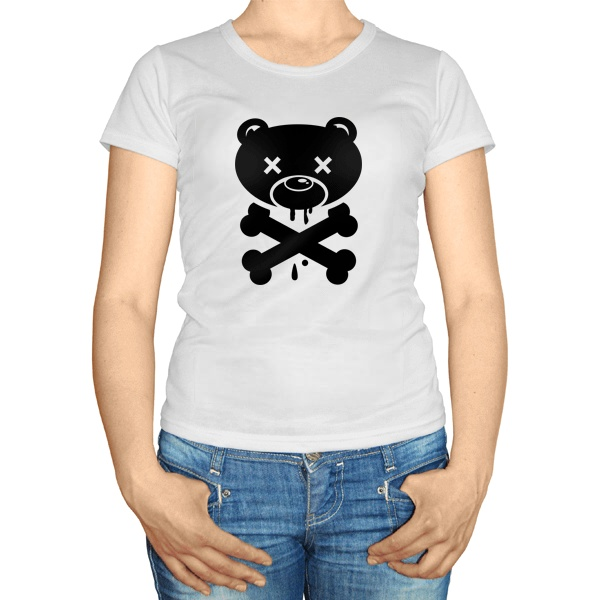 Женская футболка Медведь-пират