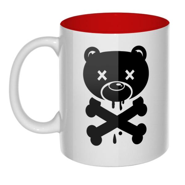 Медведь-пират, кружка цветная внутри