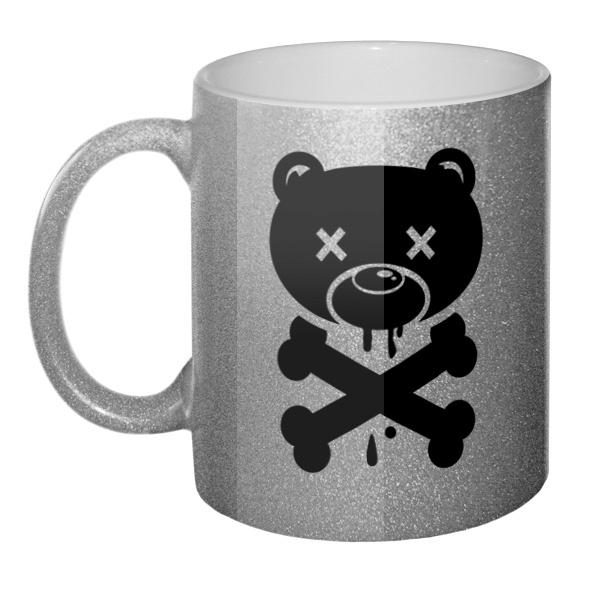 Кружка блестящая Медведь-пират