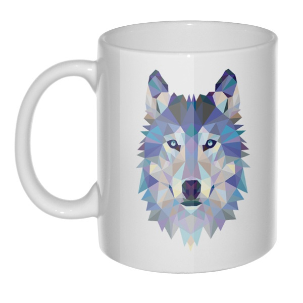 Кружка Полигональный волк