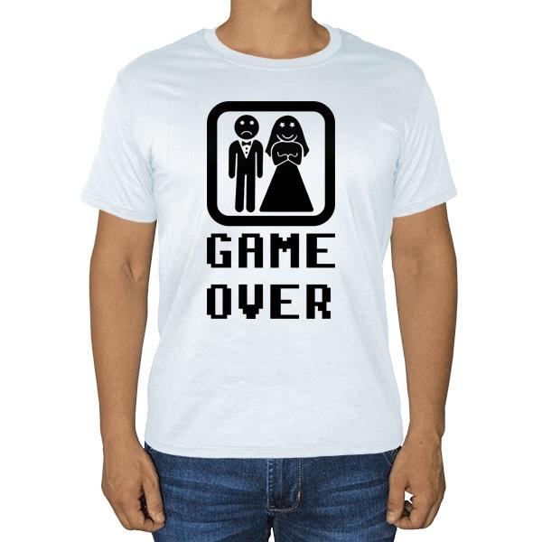 Белая футболка Game Over