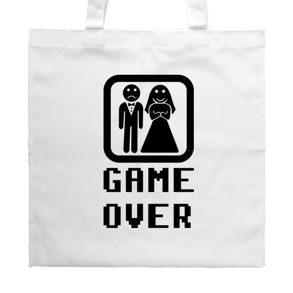 Белая сумка Game Over