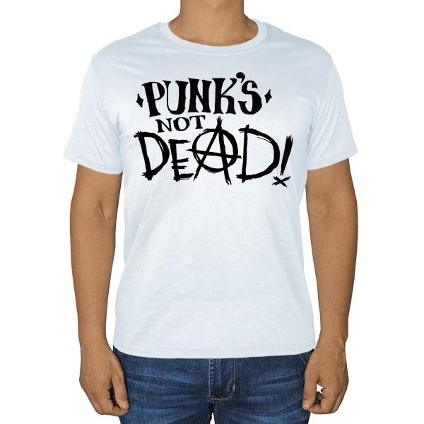 Белая футболка Punk's not dead