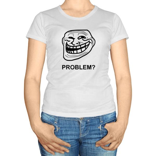 Женская футболка Троллфейс