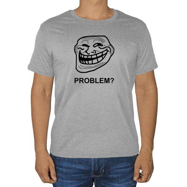 Троллфейс, серая футболка (меланж)