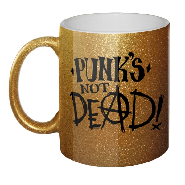 Кружка блестящая Punk's not dead