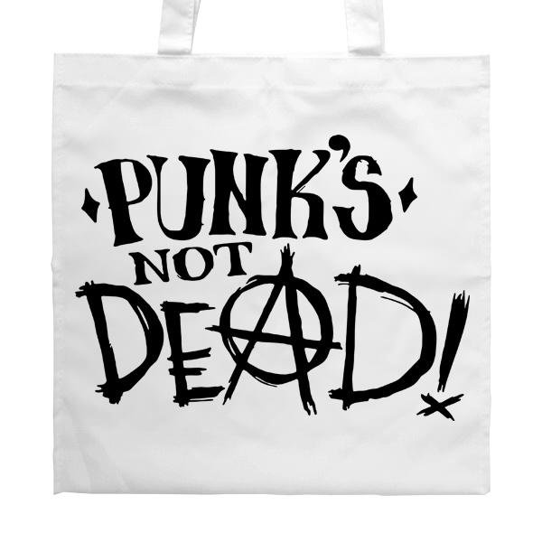 Белая сумка Punk's not dead
