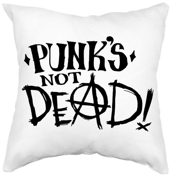 Подушка белая Punk's not dead